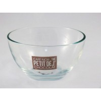 Bol verre 79.5cl texte Taupe