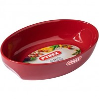 Plat ovale 33*21 rouge