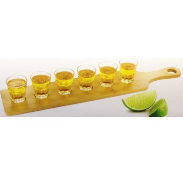 Planche bois+verres 6pcs