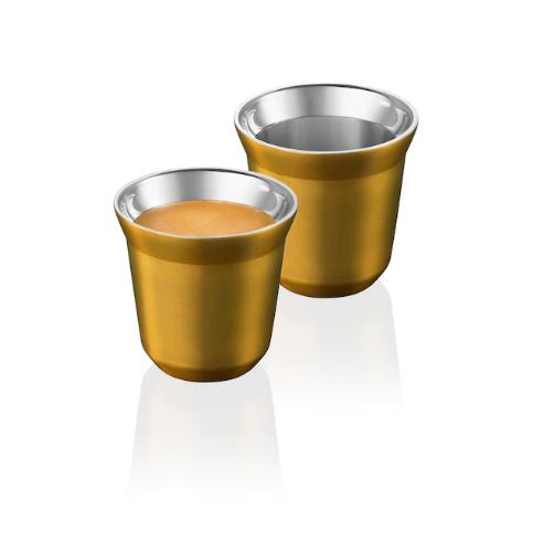 2 PIXIE ESPRESSO CUPS DORE