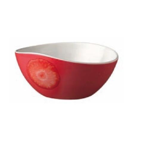 Bol à fruits fraise mélamine