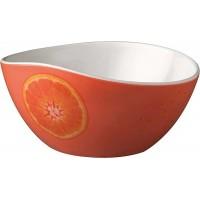 Bol à fruit orange mélamine