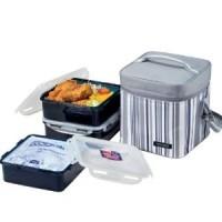 lunch box + 3 boite hermétique  1,2 L
